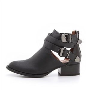 Jeffrey Campbell Everly cutout leather booties